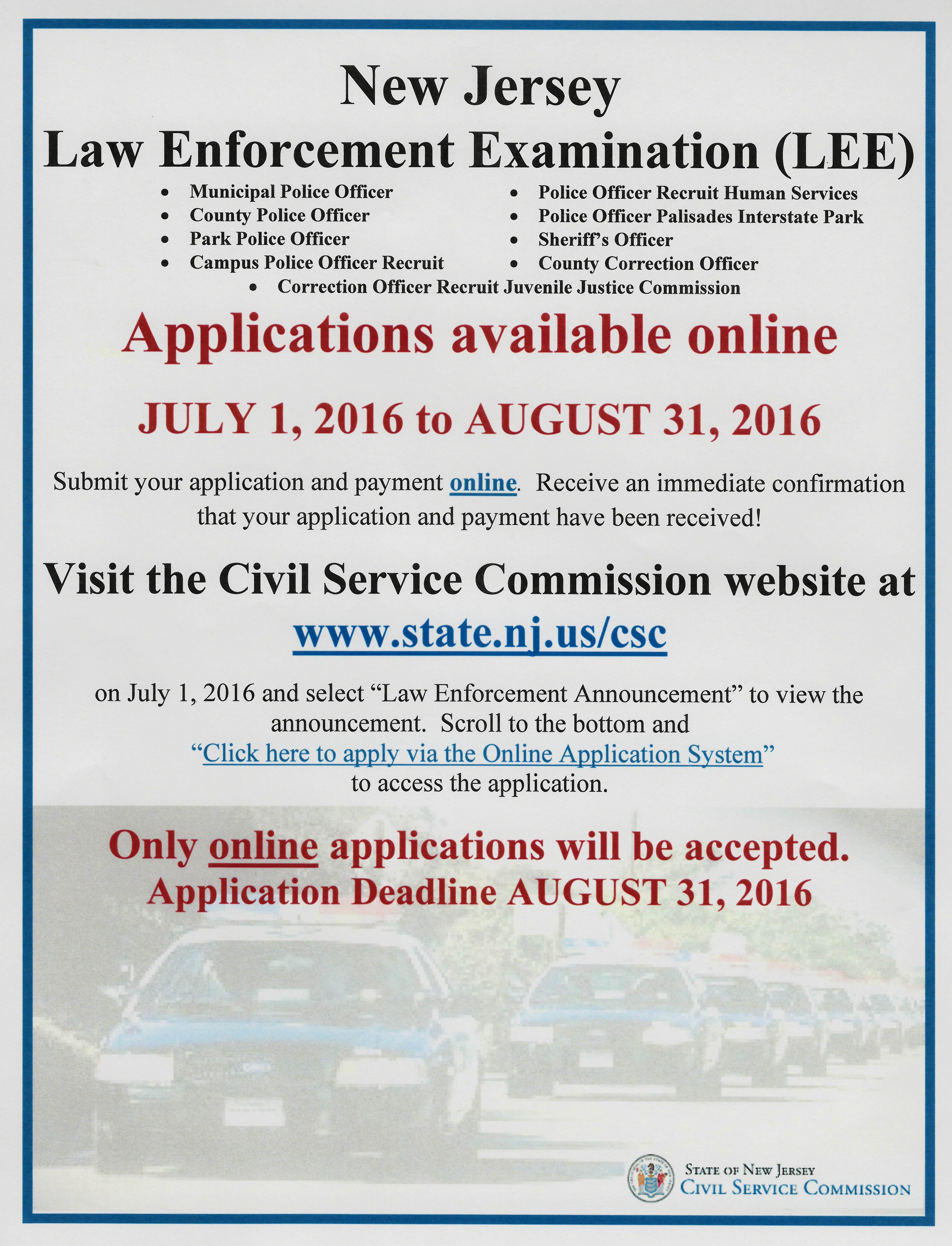 lacey township police department employment opportunities police officer regular full time police officer positions are hired from the new jersey civil service commission njcsc list